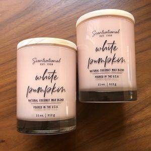 Scentsational White Pumpkin Candles 2, 11oz each